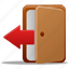 close, delete, door, exit, logout, remove icon