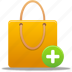 add, bag, business, buy, cart, ecommerce, item, plus, shopping, shoppingbag, webshop icon