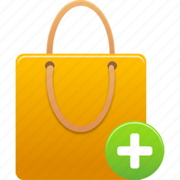 add, business, buy, cart, ecommerce, item, plus, shopping, shoppingbag, webshop icon