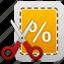 business, coupon, cut, ecommerce, price, sale, scissor, scissors, shopping, tag, webshop icon