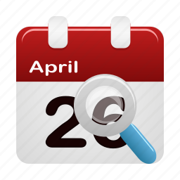 calendar, date, event, find, search, view icon