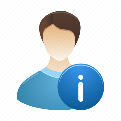 account, info, information, male, personal, profile, user icon