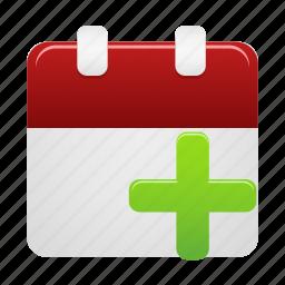 add, calendar, date, event, new, schedule icon