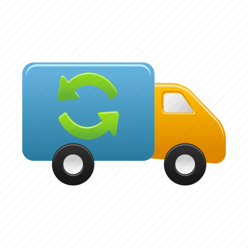 autoship, delivery, refresh, shipment, transport, transportation, truck icon