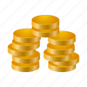 cash, coin, coins, earning, money, statement icon