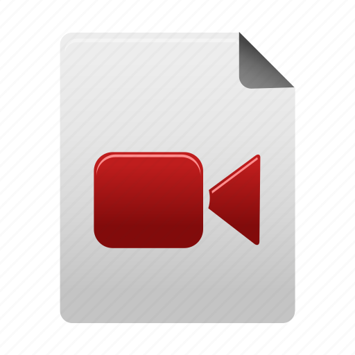 document, documents, file, files, movie, paper, video icon