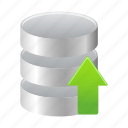 data, database, storage, upload icon