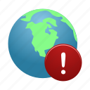 earth, global, globe, internet, warning, world icon
