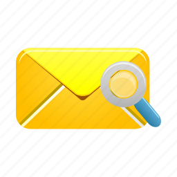 email, find, letter, mail, message, search, view icon