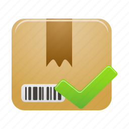 accept, box, delivery, package, parcel, shipping icon