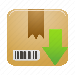 box, delivery, download, package, parcel, shipping icon