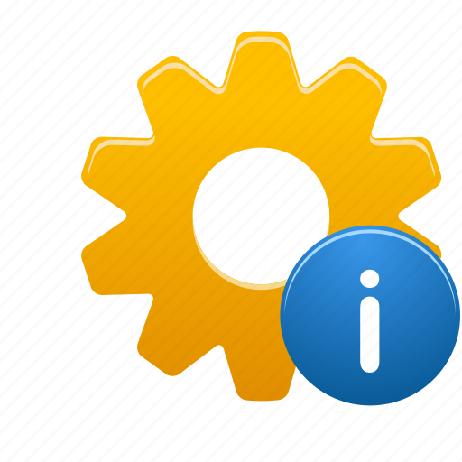 Info, process, gear, information, option, setting icon - Download on Iconfinder