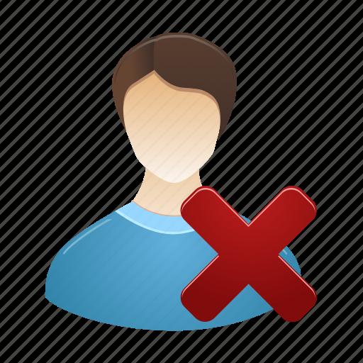 account, male, man, people, profile, remove, user icon
