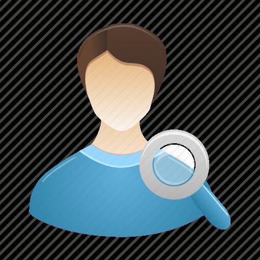 account, male, people, person, profile, search, user icon