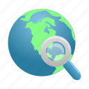 earth, find, global, globe, search, world, zoom icon
