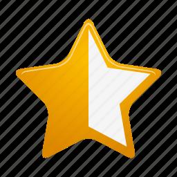 bookmark, favorite, full, half, like, rating, star icon