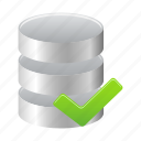 accept, data, database, storage icon