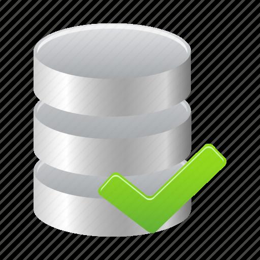 Accept, database, data, storage icon - Download on Iconfinder