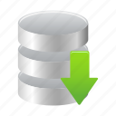 data, database, download, save, storage icon