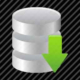 data, database, download, guardar, save, storage icon