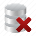 data, database, delete, from, remove, storage icon