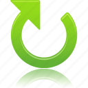 arrow, clockwise, right, up icon