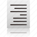 align, document, documents, file, files, right, text icon