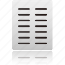 text, columns, file, document, data, paper