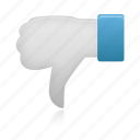 down, thumb icon