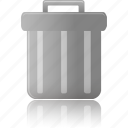 bin, can, delete, empty, full, garbage, trash icon