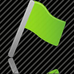 flag, green icon