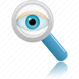 find, magnifying glass, monitor, monitoring, search, view, zoom icon