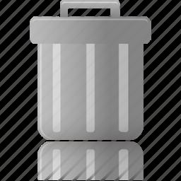bin, can, delete, empty, full, garbage, trash icon
