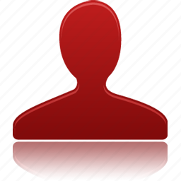 account, male, man, people, profile, red, user icon