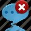 bubble, chat, comment, delete, message, remove, talk icon