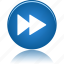 arrow, audio, fast, forward, go, media, music, next, play, player, right, video icon