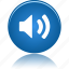 audio, button, control, media, music, on, play, player, sound, speaker, volume icon