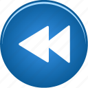 arrow, audio, back, backward, fast, media, play, player, video icon