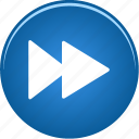 arrow, audio, fast, forward, go, music, next, player, right, video icon