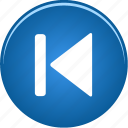 arrow, audio, back, backward, left, media, music, player, skip, video icon