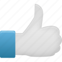 recommend, thumb, up icon