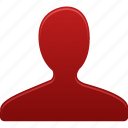 account, group, male, man, people, profile, red, user, users icon