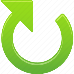 arrow, clockwise, right icon