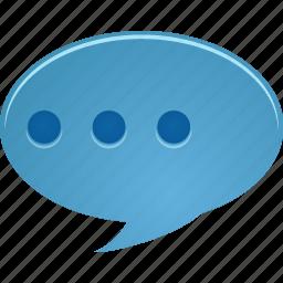 bubble, chat, comment, communicate, message, talk icon