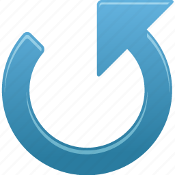 arrow, counterclockwise, left, up icon