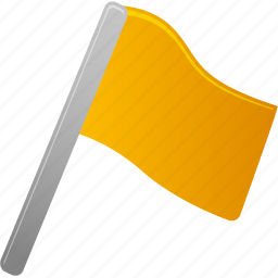 flag, yellow icon
