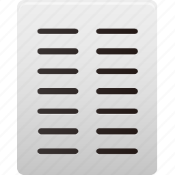 columns, document, file, paper, text icon