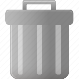 bin, can, delete, empty, full, garbage, recycle, remove, trash icon