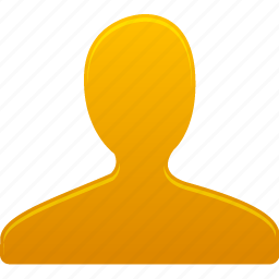 account, male, man, people, profile, user, yellow icon