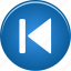 arrow, audio, back, backward, left, media, music, player, skip, video icon
